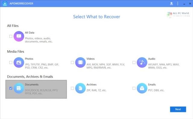 Descarga gratuita de ApowerRecover Professional 2020 v13.5