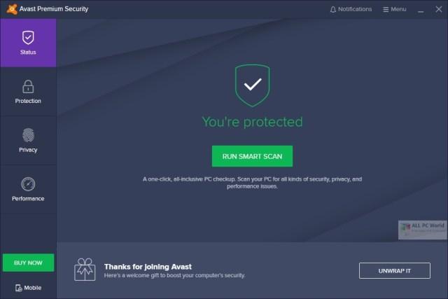 Descarga gratuita de Avast Premium Security 20.8