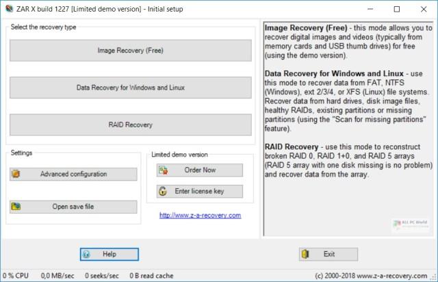 Enlace de descarga directa de Zero Assumption Recovery 10.0