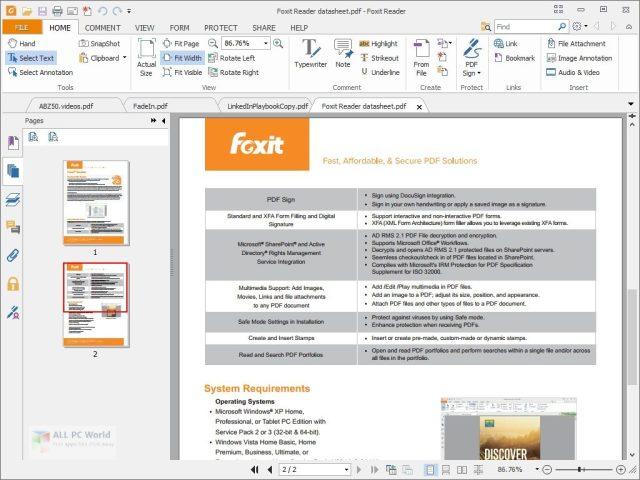 Lector de PDF Foxit 10.1