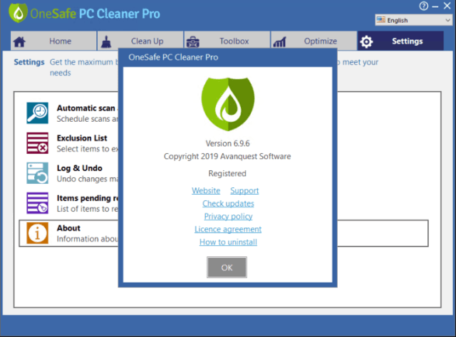 Descarga gratuita de OneSafe PC Cleaner Pro 2020 v7.2