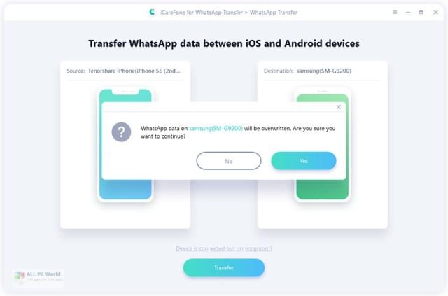 Tenorshare iCareFone para WhatsApp Transfer 3.0 Descarga con un clic