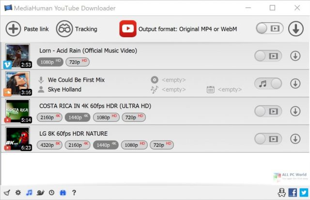 MediaHuman YouTube Downloader 3.9 Enlace de descarga directa