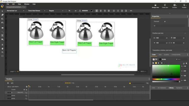 Descarga gratuita de Google Web Designer 10