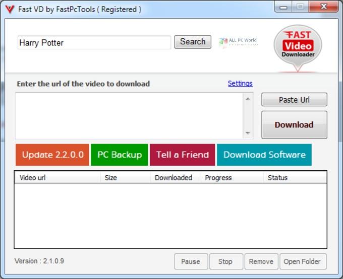 Descarga gratuita de Fast Video Downloader 3.1