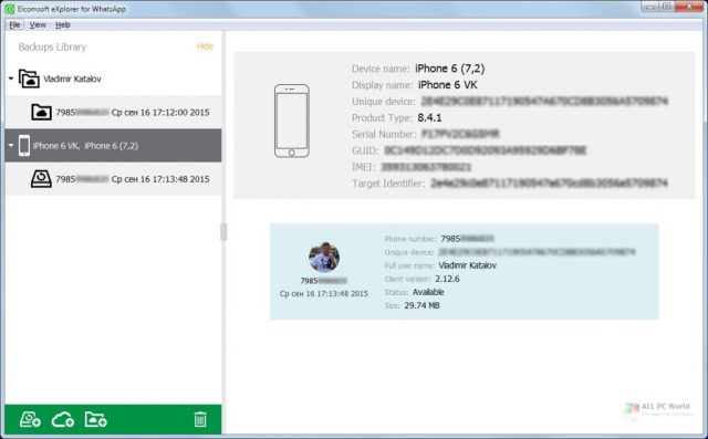 Elcomsoft Explorer para WhatsApp Forensic Edition 2020 Descarga gratuita