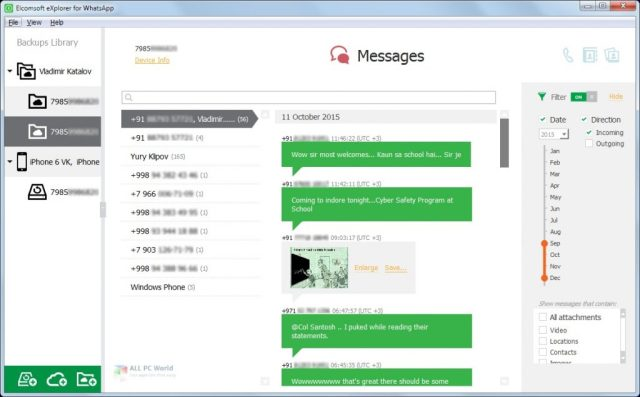 Elcomsoft Explorer para WhatsApp Forensic Edition 2.76