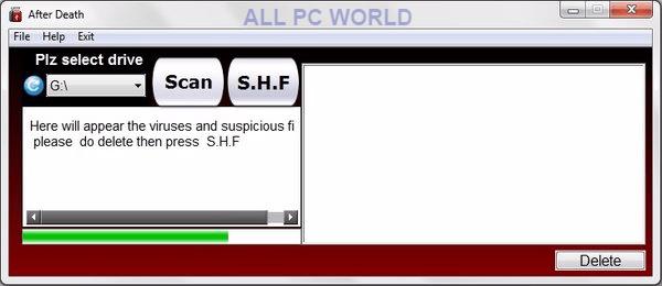 Descarga gratuita de la herramienta de eliminación de virus After Death USB