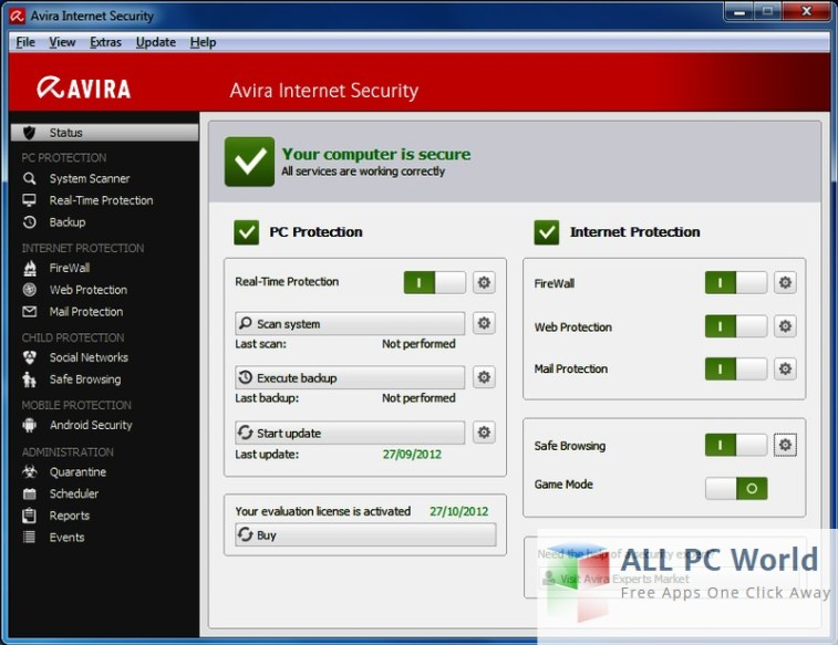 Descarga gratuita de Avira Internet Security Suite 2016