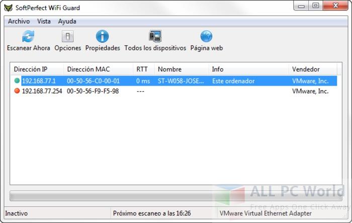 Revisión de SoftPerfect WiFi Guard