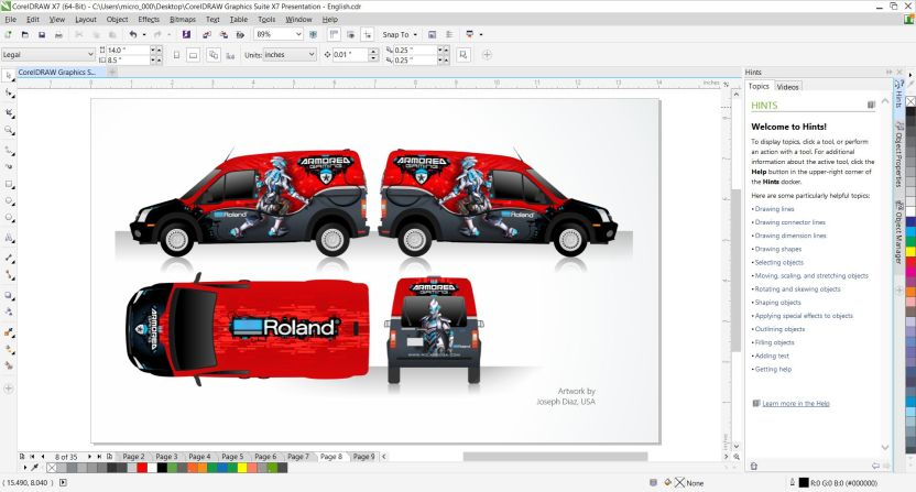 Descarga gratuita de CorelDraw Graphic Suite X7