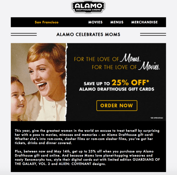 Alamo mothers day coupon