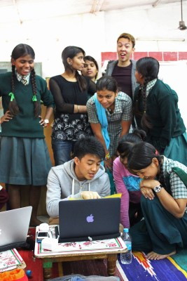 Project Vikasa, teaching IT know-how to the girls at Ladli
