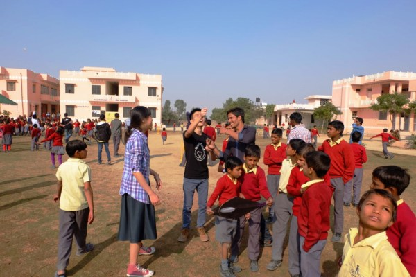 Project Vikasa, interacting with the children at the Prem Pathshala School