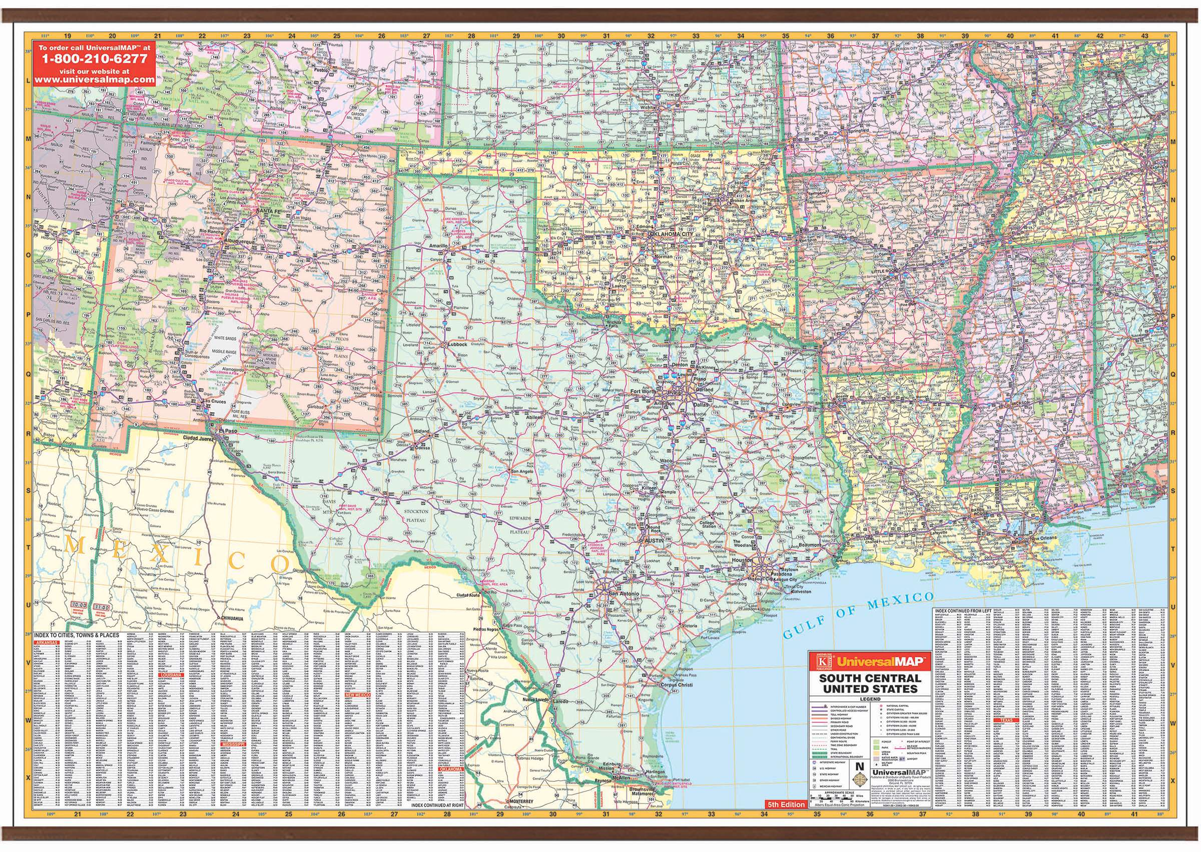 Us South Central Wall Map Kappa Map Group