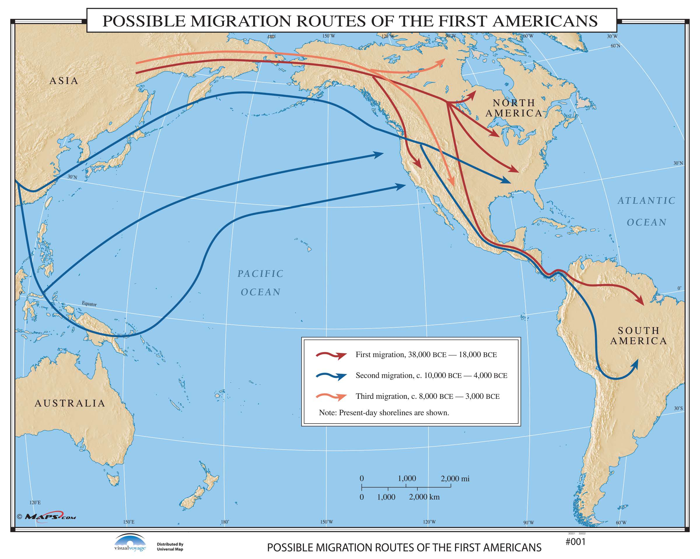 001 Possible Migration Routes Of The First Americans Kappa Map Group