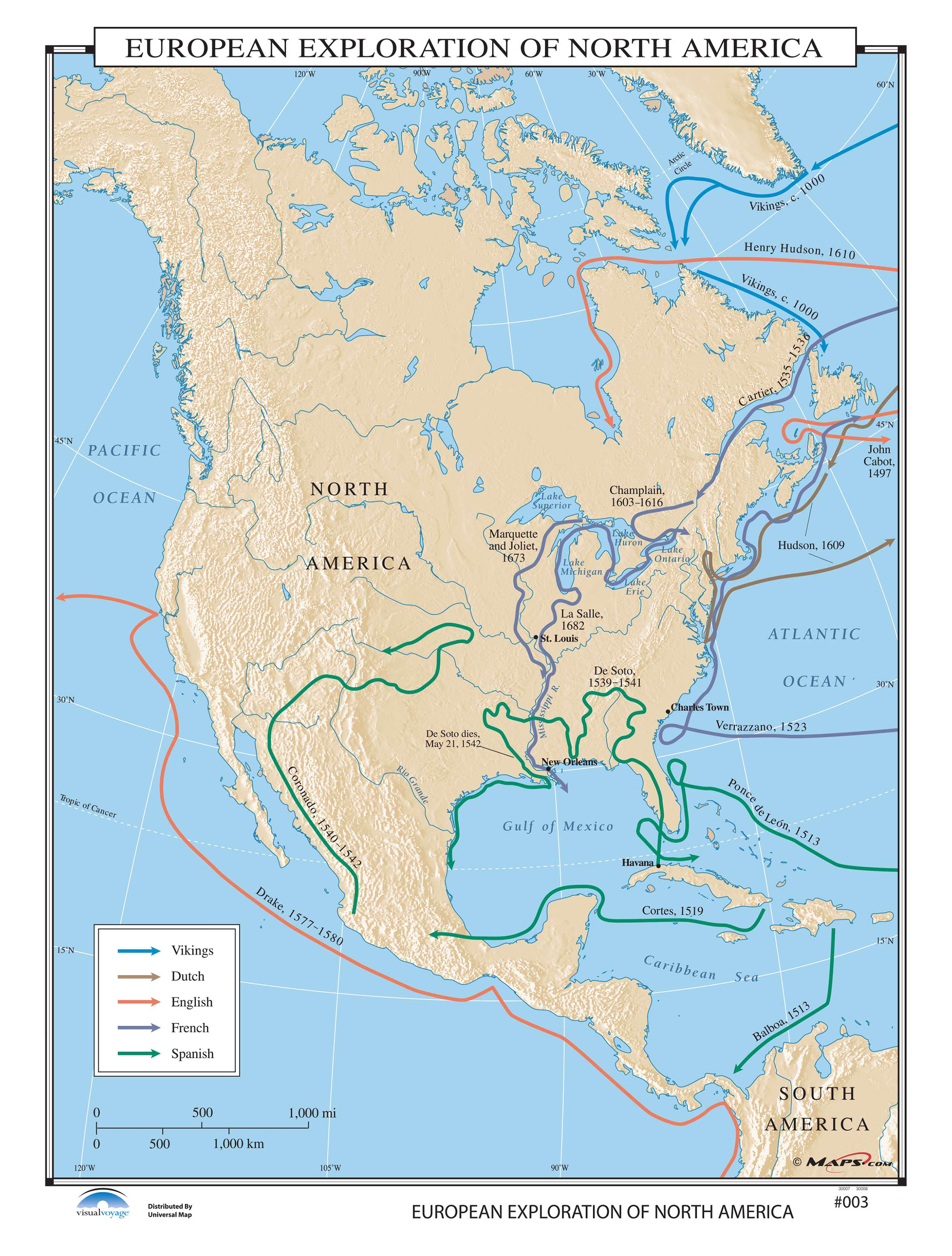 003 European Exploration Of North America Kappa Map Group