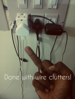 """""""Done with wire clutter!"""" - Agnimitra Bachi"""