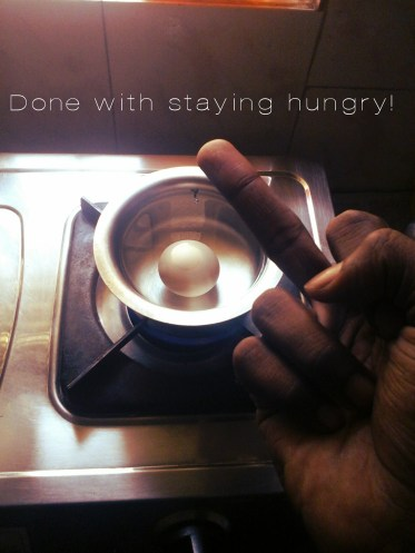 """""""Done with staying hungry!"""" - Agnimitra Bachi"""
