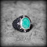 bague emeraude argent 925 macrame emerald silver ring kaprisc creation 2014 (3)