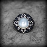 bague pierre lune argent 925 macrame silver moon stone ring kaprisc creation 2014 (1)