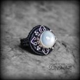 bague pierre lune argent 925 macrame silver moon stone ring kaprisc creation 2014 (3)