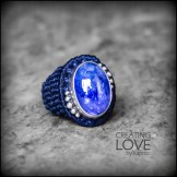 bague tanzanite argent 925 macrame silver ring kaprisc creation 2014 (2)