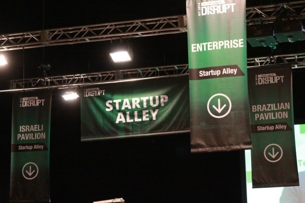Startup alley at Disrupt NY 2014