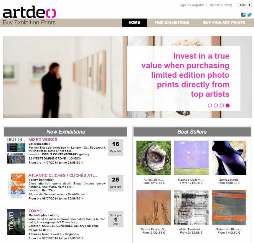 Artdeo home page