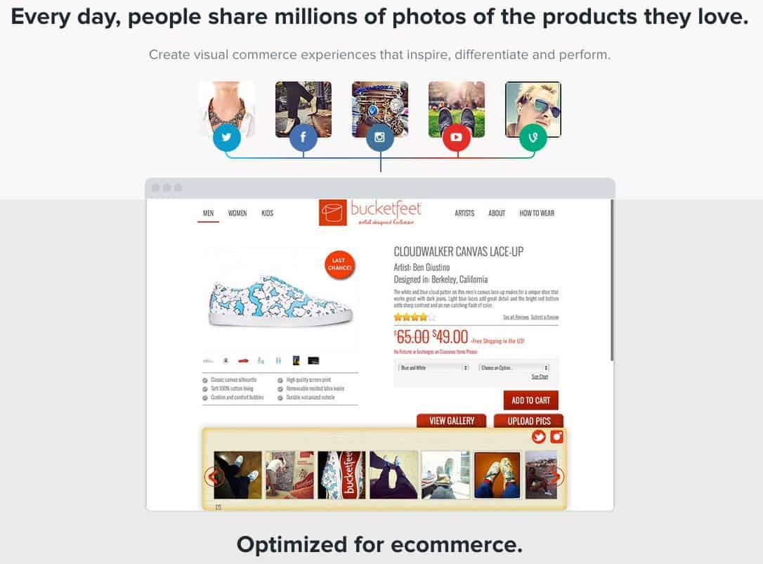 Home page of Olapic.com