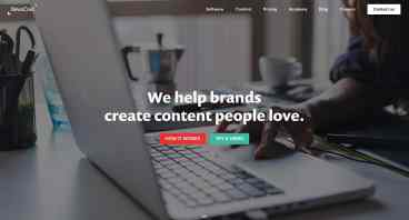 Newscred home page