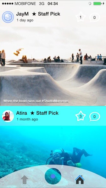 Shutta social network allows you to easily share and compare best frames