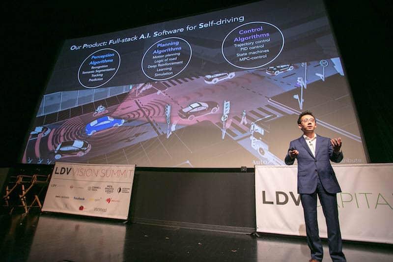 "Presentation by Jianxiong Xiao, ""Professor X"". ©Robert Wright/LDV Vision Summit"