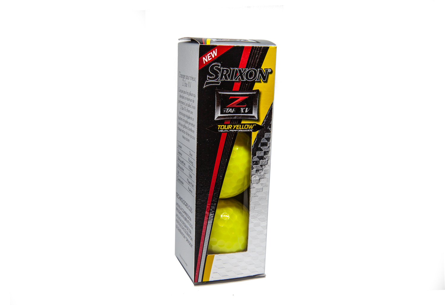 srixon tour yellow golf balls