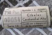 Billete Transbra S.A. Línea 34 Cibeles - Carabanchel Alto