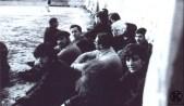 Presos en el patio de la cárcel de Carabanchel (1975)