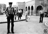 Santiago Alvarez, Simón Sánchez Montero y José Unanue del PCE salen de la cárcel de Carabanchel (Madrid) en 1976