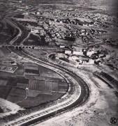 Vista aérea de las huertas del solar ocupado posteriormente por el estadio Vicente Calderón (1951)