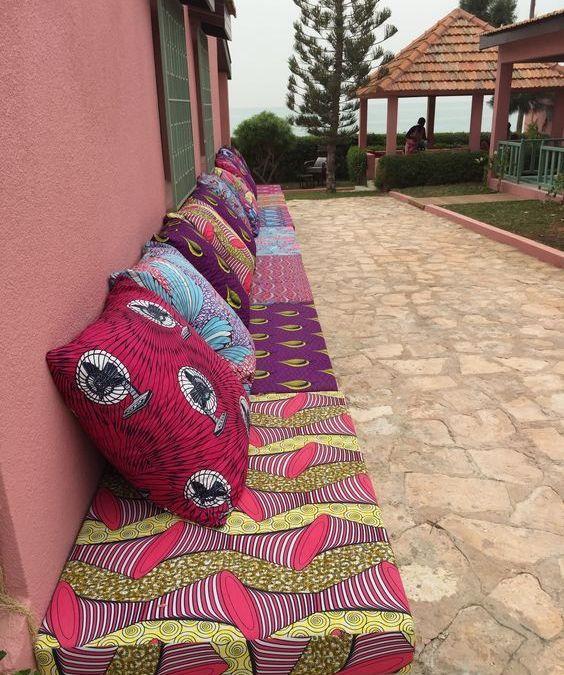 Terrazas con telas africanas wax