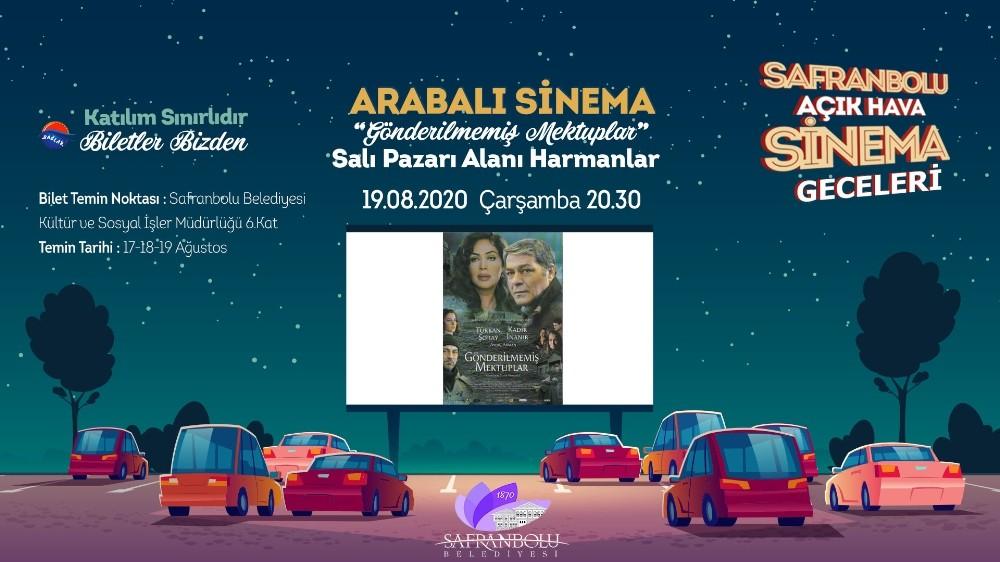 """Safranbolu'da """"arabalı sinema"""" gösterimi 19 Ağustos'ta"""