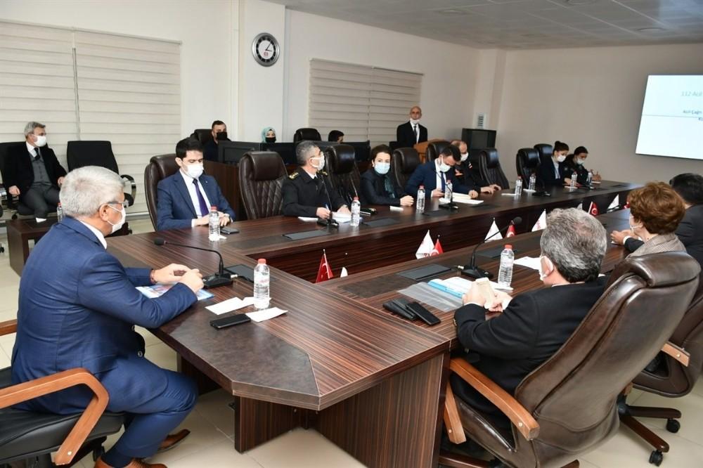 112 Acil Çağrı Hizmetleri İl Koordinasyon Kurulu toplantısı yapıldı