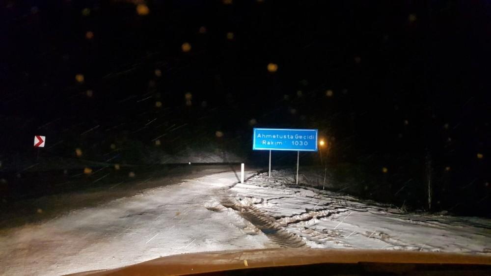 Meteoroloji uyarmıştı, kar yağışı Karabük'te başladı
