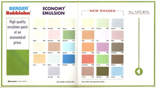 Paint Shade Card Ici Cardpaint