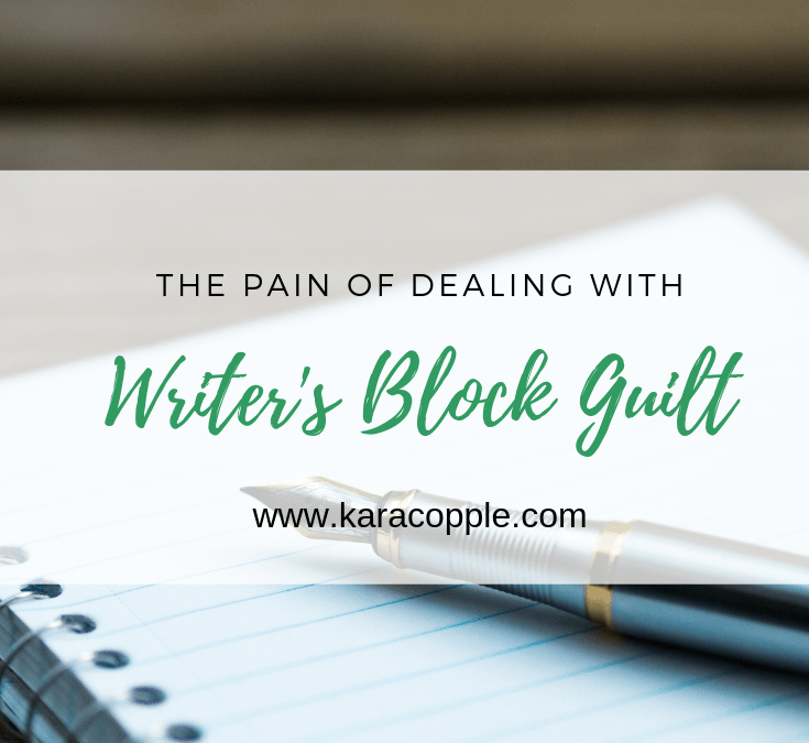 dealing with writer's block guilt