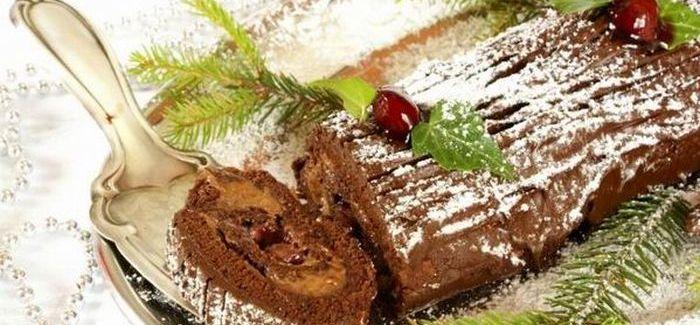 Karácsonyi fatörzs torta – recept