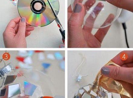 Karácsonyi ajándék saját kezűleg: CD üveggömbbel