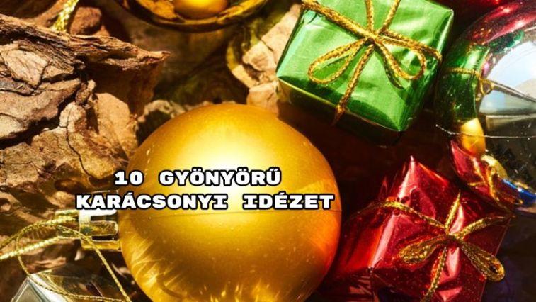 10 gyönyörű karácsonyi idézet