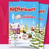 Boldog karácsonyt! 2018 sorsjegy - nyerj 100 millió forintot