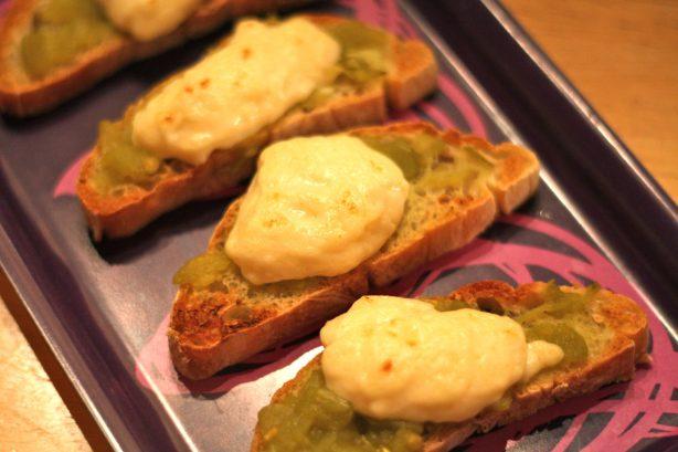 Green Chile & Cheese Canapés - www.karainthekitchen.com