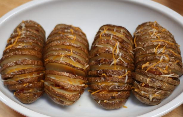 Hasselback Bacon Potatoes